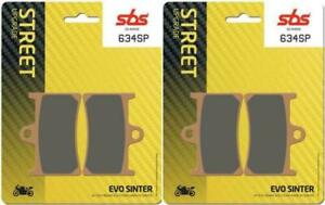 Yamaha YZF-R7 750 OW02 99 00 01 02 SBS Front Evo Sinter Brake Pads Set EO 634SP