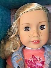 "NIB American Girl Tenney Grant Doll 18"" + Book + Wooven Bracelet"