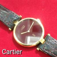 Cartier Watch VERMEIL Color : Gold Watch Only Women Accessories Used