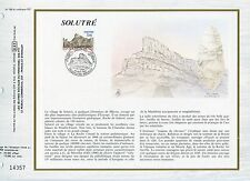 FEUILLET CEF / DOCUMENT PHILATELIQUE / SOLUTRE / 1985 SOLUTRE POUILLY