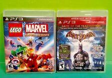 LEGO Marvel Super Heroes + Batman Arkham Asylum -PS3 Sony Playstation 3 COMPLETE