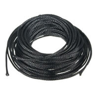 Black 10M 4mm Expandable PET Braided Cable Sleeving Sheathing Wire Audio Sleeve
