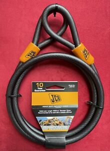 JCB Heavy Duty Security Cable Looped Ends 12mm dia x 1800mm (1.8 meter) Length