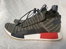 NEW Adidas NMD TS1 Primeknit Sneakers Night Cargo Green Trace PK Mens Size 10.5