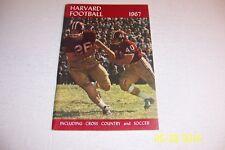 1967 HARVARD Crimson FOOTBALL Yearbook Captain DON CHIOFARO Cross Country SOCCER