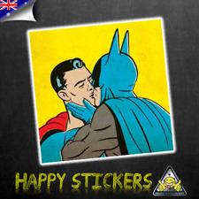 Batman & Superman GAY Kissing Luggage Car Skateboard Laptop Vinyl Decal Sticker