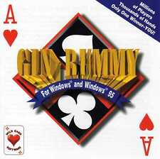 Gin Rummy For Windows & Windows 95 (PC-Win, CD-Rom, Jewel Case) BRAND NEW