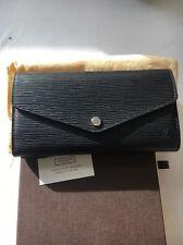 Portafoglio Vuitton Sarah Louis nera in pelle épi RRP £ 530