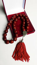 Prayer Rope 33 Knots Red aromatic nutmeg with Holy anointing oil - Holy Rosary