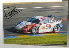 PHOTO cm 13x18 SIGNED by Raymond Narac PORSCHE 997 GT3 RSR MATMUT LE MANS 2012