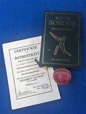 Autographed Aust Cricket Memorabilia feat Allan Border, Ian Healy and David Boon