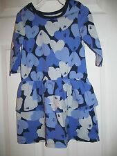 NWT Baby Girls Joe Fresh Long Sleeve Purple Heart Shaped Ruffled dress sz 4