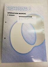 MAKINO Professional 5 V SERIES Manual