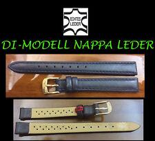 di-modell Reloj De Pulsera piel auténtica Napa Azul 12mm MUY BUENA CALIDAD NUEVO