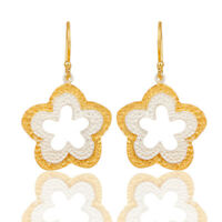Handmade Gold Plated Silver Plated Brass Earrings Dangle Fashion Jewelry