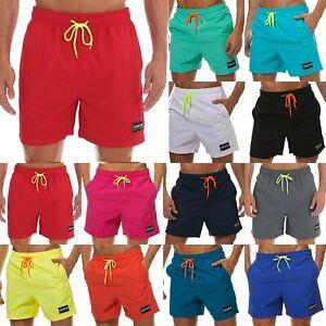 Men Summer Elastic Waist Boxer Bottoms Surfing Shorts Beach Trousers Swimwear