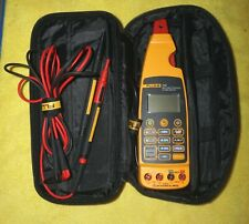 Fluke 773 Milliamp Process Clamp Meter With Case - Leads - NEW