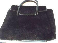 Terry Moore Large Black Faux Fur handbag