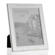 "8"" X 10"" Silver Plated Beaded Edge Photo Frame - Custom Engraved"