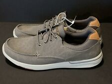 Skechers Elent-Mosen Men's Gray Relaxed Fit Memory Foam Boat Shoes Size 13 NWT