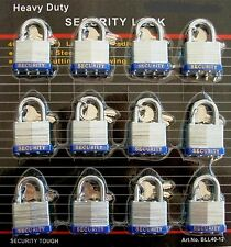 40 mm Padlock - 12 pc keyed alike - 1-1/2