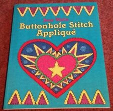 BUTTONHOLE STITCH APPLIQUE Book (JEAN WELLS)  CHRISTMAS BANNER, ANGEL DOLL