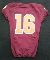#16 No Name of Washington Redskins NFL Locker Room Game Issued Alternate Jersey