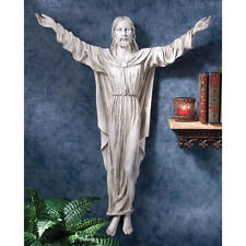 The Benediction Of Jesus With Faux Stone Finish Design Toscano Wall Sculpture
