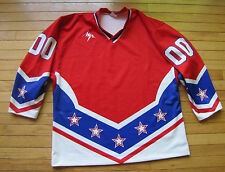NWOT Russianjerseys.com Lutch Hockey Jersey Made in Russia Red White Blue #00 52
