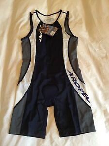 New Mens Aropec Medium Triathlon Suit BNIP Navy Blue