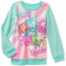 NWT Crazy for Shopkins Girl Minky Thick Winter Fleece Sweatshirt Top M 6 7 8