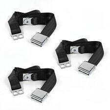 Chevy FS Blazer 1973 - 1991 Airplane 2pt Black Lap Bench Seat Belt Kit - 3 Belts
