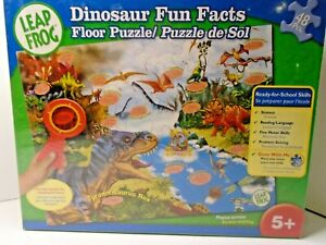 Leap Frog Dinosaur Fun Facts Floor Puzzle, SCIENCE, READING LANGUAGE AND MORE