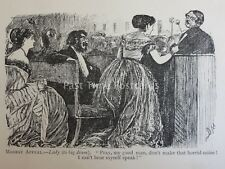 Theatre & Play Theme ORCHESTRA PIT - MODEST APPEAL Antique Punch Cartoon
