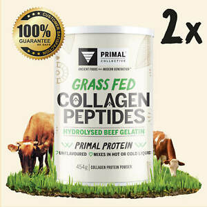 Premium Grass Fed Collagen Peptide Protein Powder 454g x2