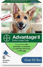 Bayer Advantage Ii Flea and Lice Treatment for X-Large Dog, Over 55 lbs,6m doses