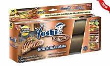 COPPER BBQ Grill Mat Non Stick Baking Mats Reusable Set of 2 Yoshi AS SEEN ON TV