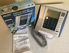 Shift 3 Lcd Touch-Panel Phone W/ Talking Caller Id Alarm Calculator Illuminated