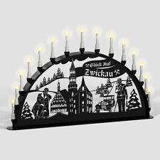 Schwibbogen Lichterbogen Zwickau Bergmann Weihnachten Metall XL Außen schwarz