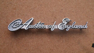 """Schriftzug, Emblem, Austin A30 - A35 - A40, Schriftzug """"Austin of England"""""""