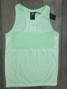 ADIDAS MATCH CODE TENNIS TANK TOP WOMENS SIZE LARGE GREEN NWT MSRP $65.00