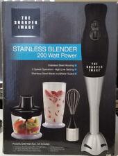 NIB THE SHARPER IMAGE Stainless blender 8 pc.set 200 watt -- FREE SHIPPING!!!