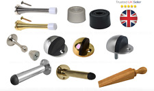 DOOR STOP STOPPER Buffer Rubber Mount Projecting Spring Oval GOLD SILVER