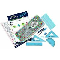 Helix Oxford Limited Edition Splash Maths Set in Tin - Blue