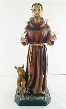 18 Inch Statue Saint Francis of Assisi St Santo San Francisco de Isis Figurine