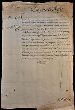 King Louis Xv Autograph On Military Order Regency - 1718 Rey Luis Xv de Francia
