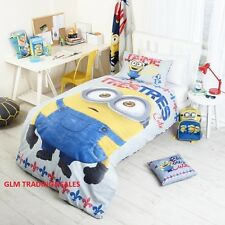 SINGLE BED Despicable Me Minions LICENSED QUILT DOONA COVER SET + PILLOWCASE