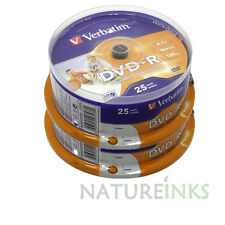 50 Verbatim DVD-R 16x 4.7GB 120 mins White Printable Blank discs AZO 43538 CB