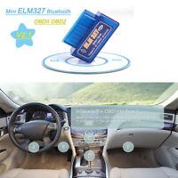 MINI ELM327 Bluetooth V2.1 OBDII Car Diagnostic Tool OBD2 Interface Scanner Tool
