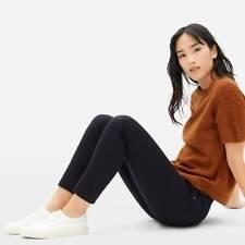 Everlane The Side-Zip Stretch Cotton Slim Leg High Rise Black Pants Size 10 EUC